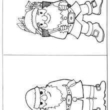 Nikolaus zum Ausmalen