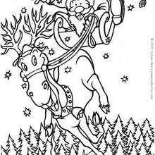 Weihnachtsmannschlitten zum Ausmalen