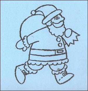Wie man den Weihnachtsmann mit Geschenken malt