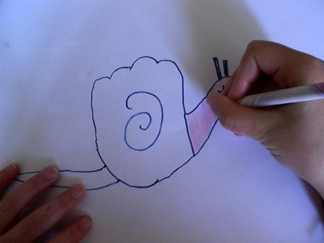 wie malt man wie man mit deiner hand eine schnecke malt. Black Bedroom Furniture Sets. Home Design Ideas
