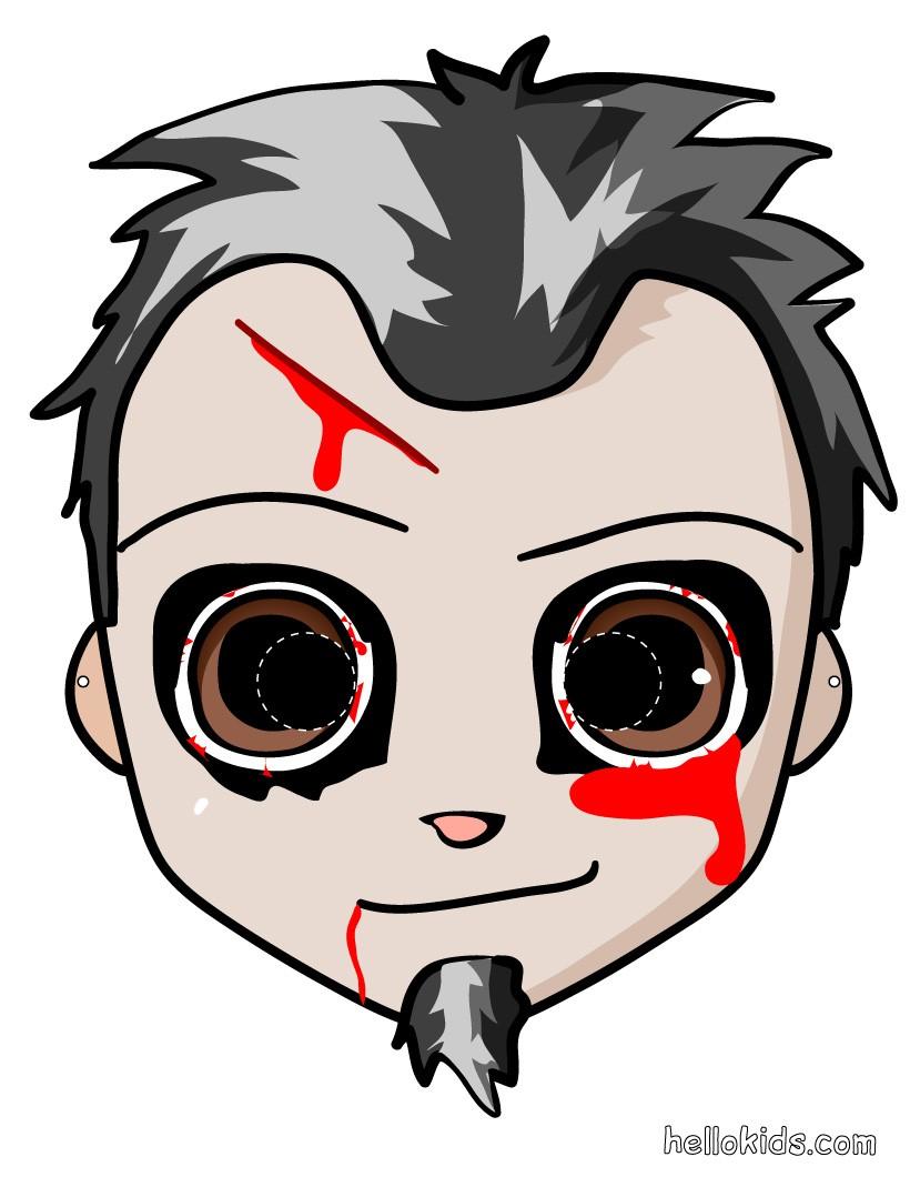 Zombiemaske für Halloween