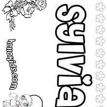 Sylvia - Coloring page - NAME coloring pages - GIRLS NAME coloring pages - Letter S