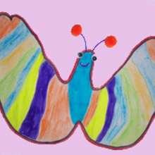 Wie du einen Schmetterling mit deiner Hand malst