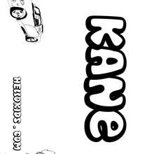 Kane - Coloring page - NAME coloring pages - BOYS NAME coloring pages - Letter K+L