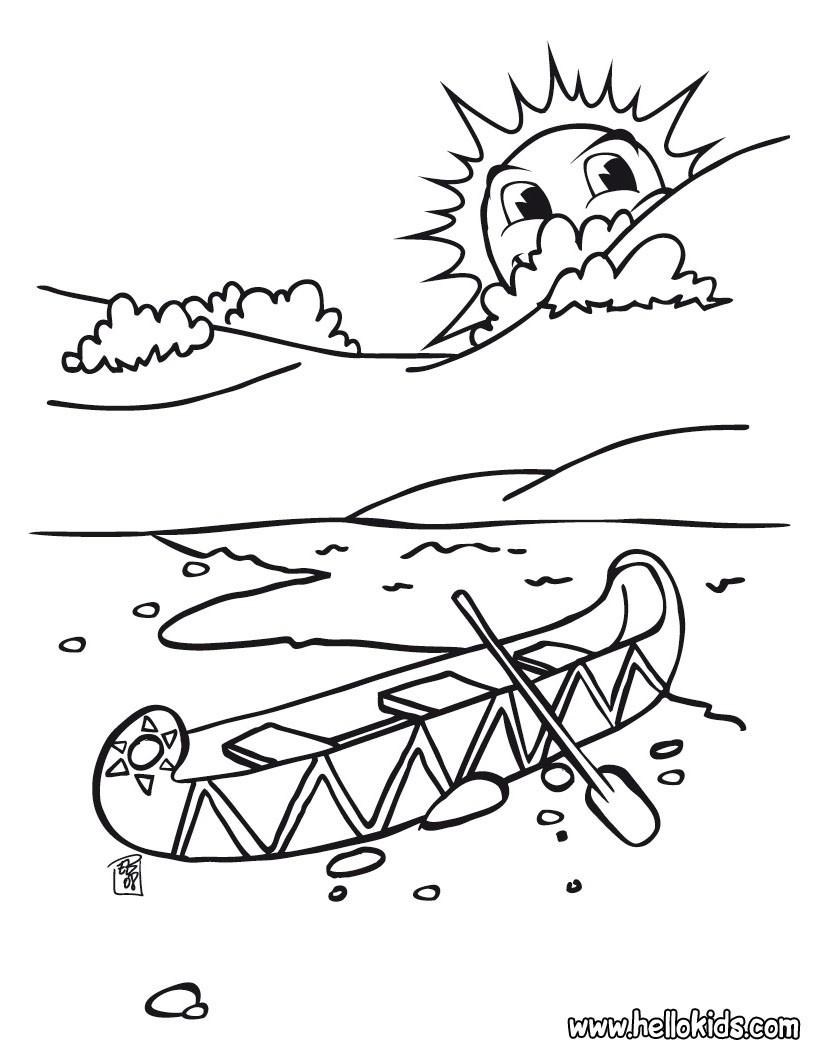 Kanu zum ausmalen zum ausmalen  dehellokidscom