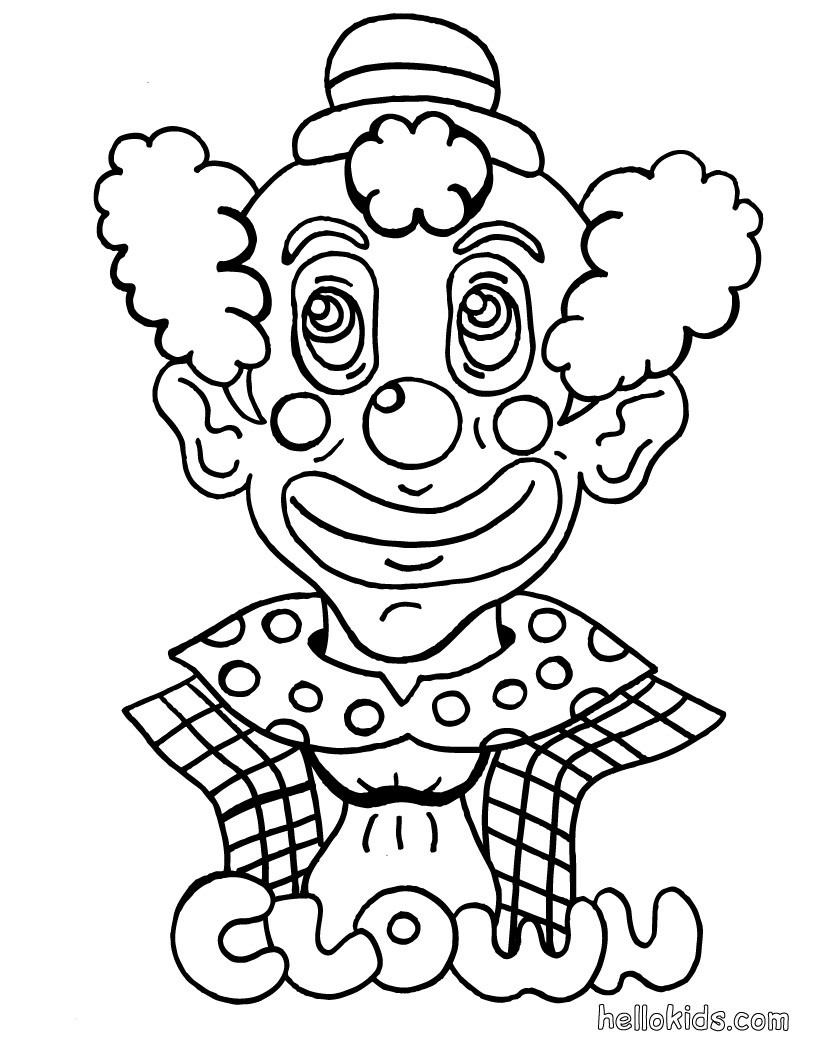 Clown zum ausmalen zum ausmalen - de.hellokids.com