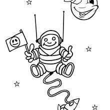 Kosmonaut zum Ausmalen