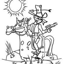Bandit auf seinem Pferd zum Ausmalen