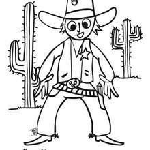 Cowboy zum Ausmalen