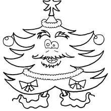 Weihnachtsbaum und Weihnachtsstrumpf zum Ausmalen