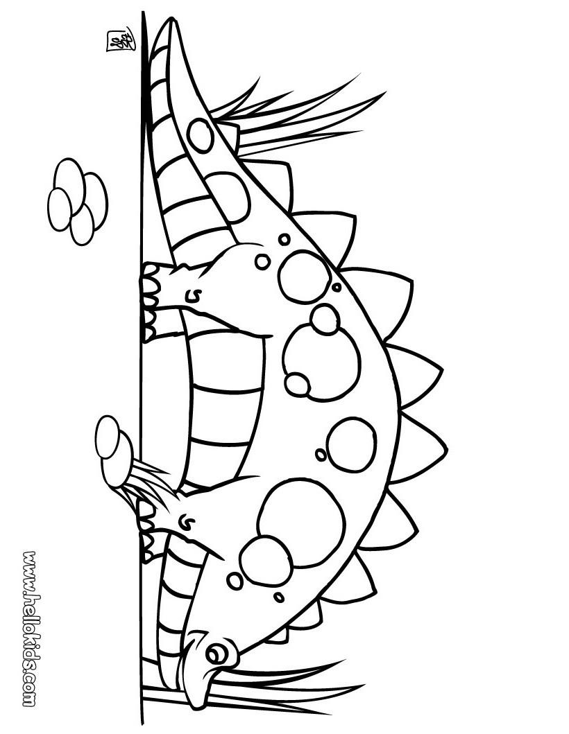 süßer stegosaurus zum ausmalen zum ausmalen  dehellokids