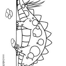 Süßer Stegosaurus zum Ausmalen