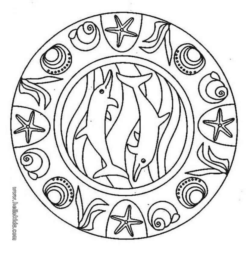 Delphin Mandala Zum Ausmalen Dehellokidscom