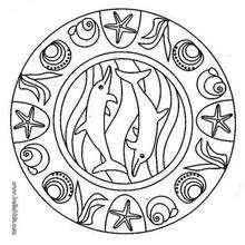 Delphin Mandala zum Ausmalen