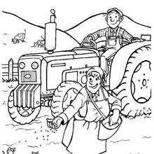 Bauer zum Ausmalen