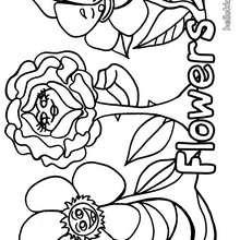 Blume zum Ausmalen