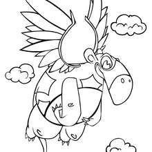 Fliegender Dinosaurier zum Ausmalen