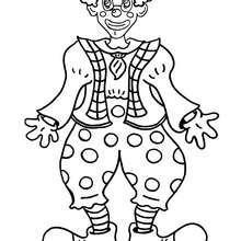 Grinsender Clown zum Ausmalen