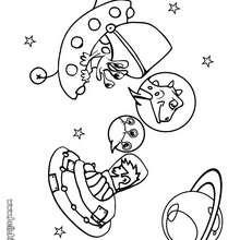 Galaxie zum Ausmalen