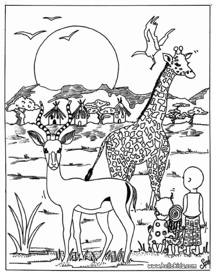 Afrikanische Tiere Zum Ausmalen Ausmalbilder Ausmalbilder