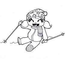 Winterspiel zum Ausmalen