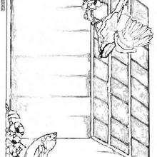 Vogelhaus zum Ausmalen