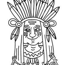 Indianer zum Ausmalen