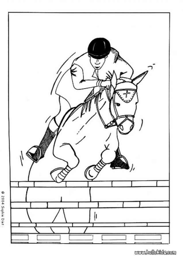 Pferdekopf Zum Ausmalen Zum Ausmalen De Hellokids Com