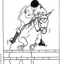 Jockey zum Ausmalen