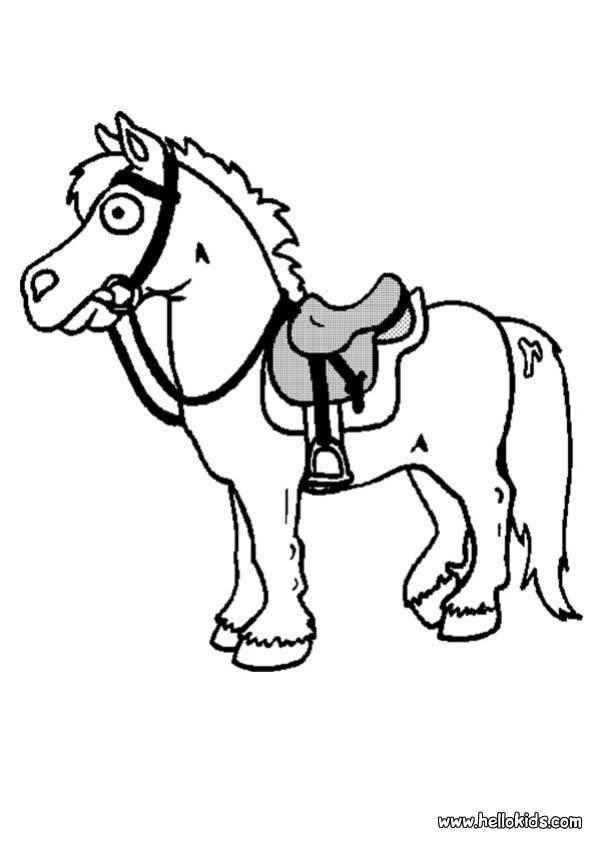 kleines pferd zum ausmalen zum ausmalen  dehellokids