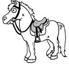 Kleines Pferd zum Ausmalen