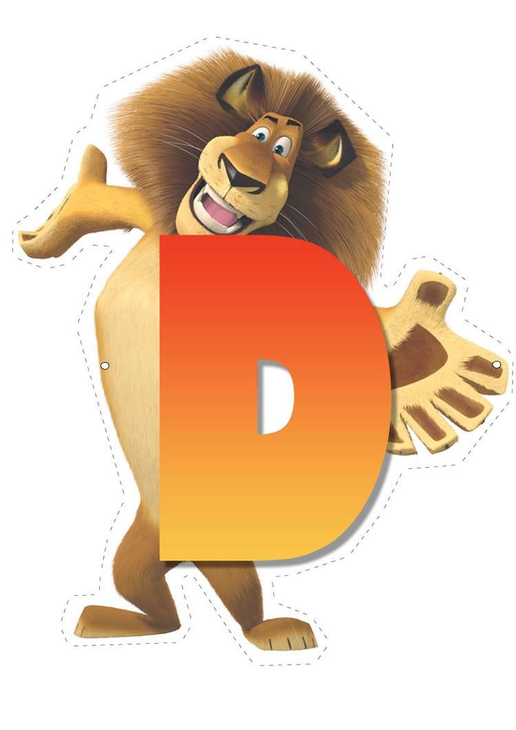 Madagascar 2: Buchstabe D