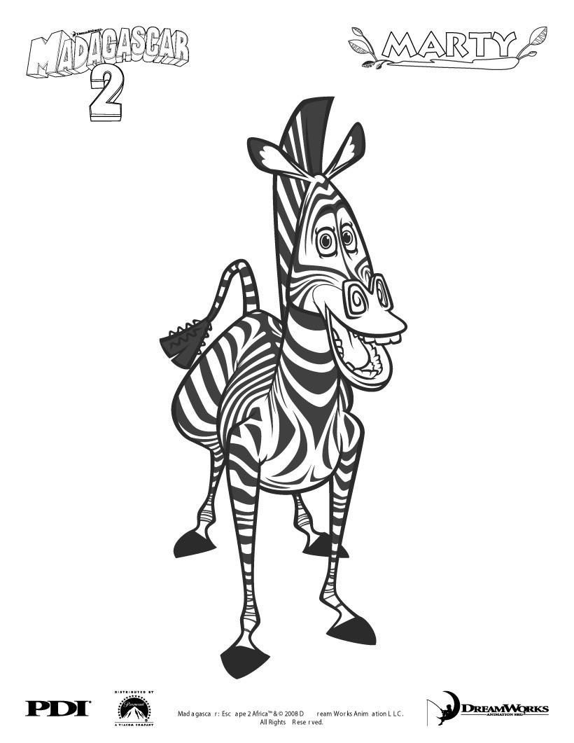 Madagascar 2 Zum Ausmalen Ausmalbilder Ausmalbilder Ausdrucken