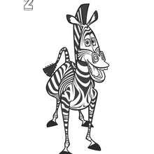 Madagascar 2: Marty das Zebra zum Ausmalen