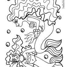 Schöne Meerjungfrau zum Ausmalen