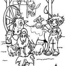 Bauernhof zum Ausmalen