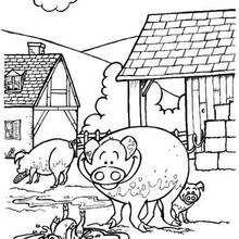 Schwein Zum Ausmalen Zum Ausmalen De Hellokids Com