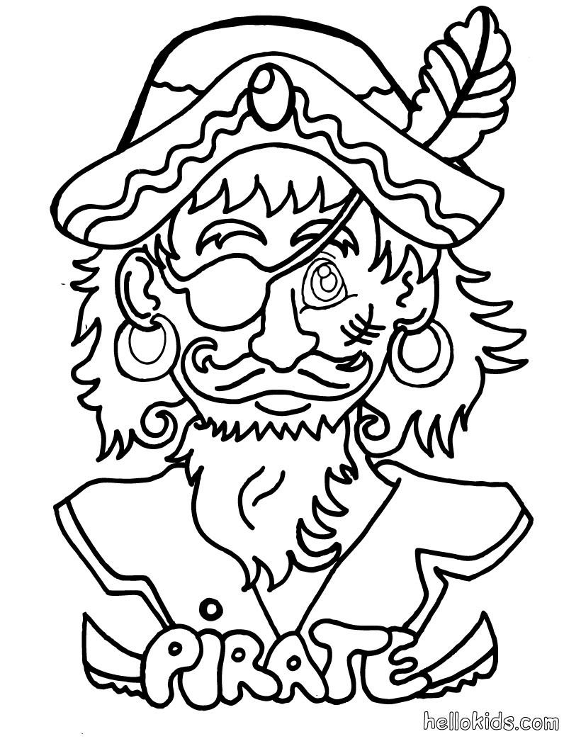 Pirat zum ausmalen zum ausmalen - de.hellokids.com