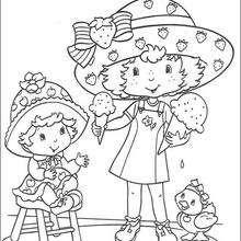 Strawberry Shortcake und Apple Dumplin zum Ausmalen