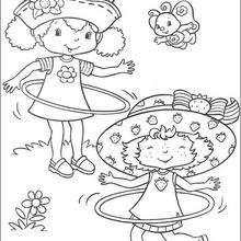 Strawberry Shortcake und Orange Blossom zum Ausmalen