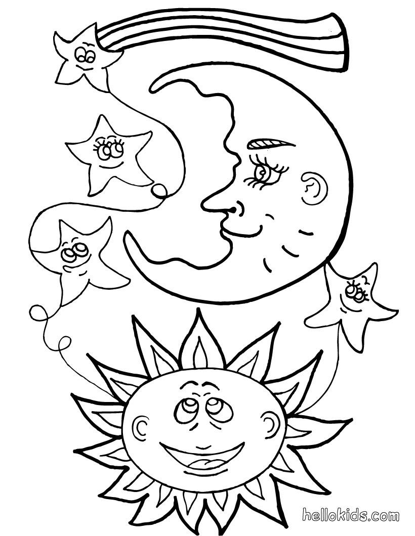 Sonne Und Mond Zum Ausmalen Zum Ausmalen De Hellokids Com