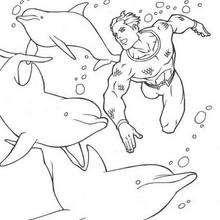 Mit Delphinen schwimmen zum Ausmalen