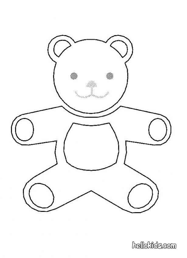 Teddybär Zum Ausmalen Zum Ausmalen De Hellokids Com