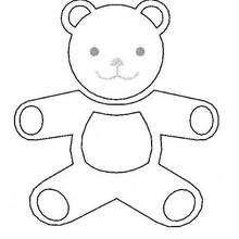 Teddybär zum Ausmalen