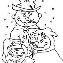 Schneemann zum Ausmalen