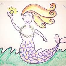 Wie man eine Meerjungfrau malt