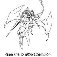 Drachenmeister Gaia zum Ausmalen