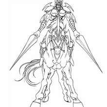 Gaia, zorniger Ritter zum Ausmalen