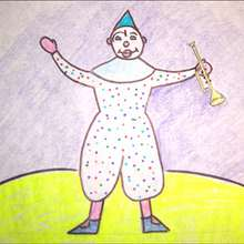 Wie man einen Clown mit Trompete malt