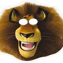 Madagascar 2: Alex the lion king Mask - Kids Craft - BIRTHDAY PARTY - BIRTHDAY crafts - Madagascar 2: Escape 2 Africa Masks